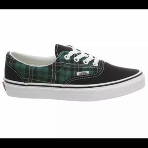 Vans Era (Tartan Pack) Evergreen True White Mens